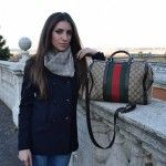 Fashion Blogger wearing Gucci handbag for a winter outfit