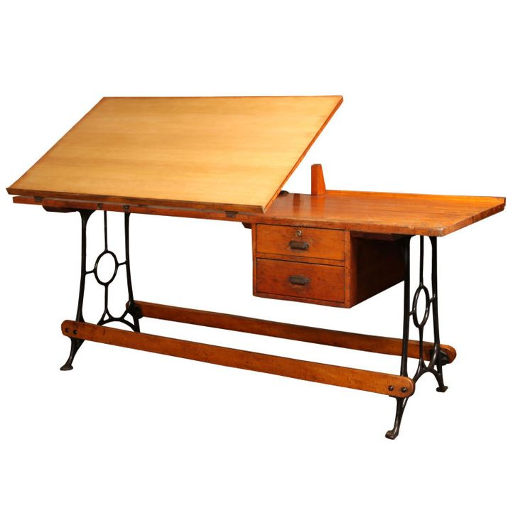 I love drafting tables. I don't really draft much though. Should it stop me? A #vintage #drafting table, the wood is just stunning. At a length of 90 inches, I'm not sure it'd fit in my #apartment. Might as well give it a try though. $6500