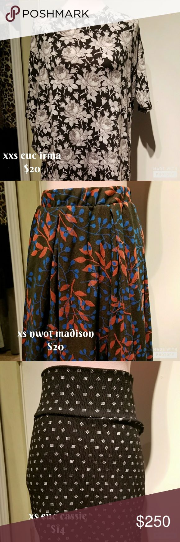 Lularoe consultant destash Gently used Llr items for sale! Price listed on picture! Other