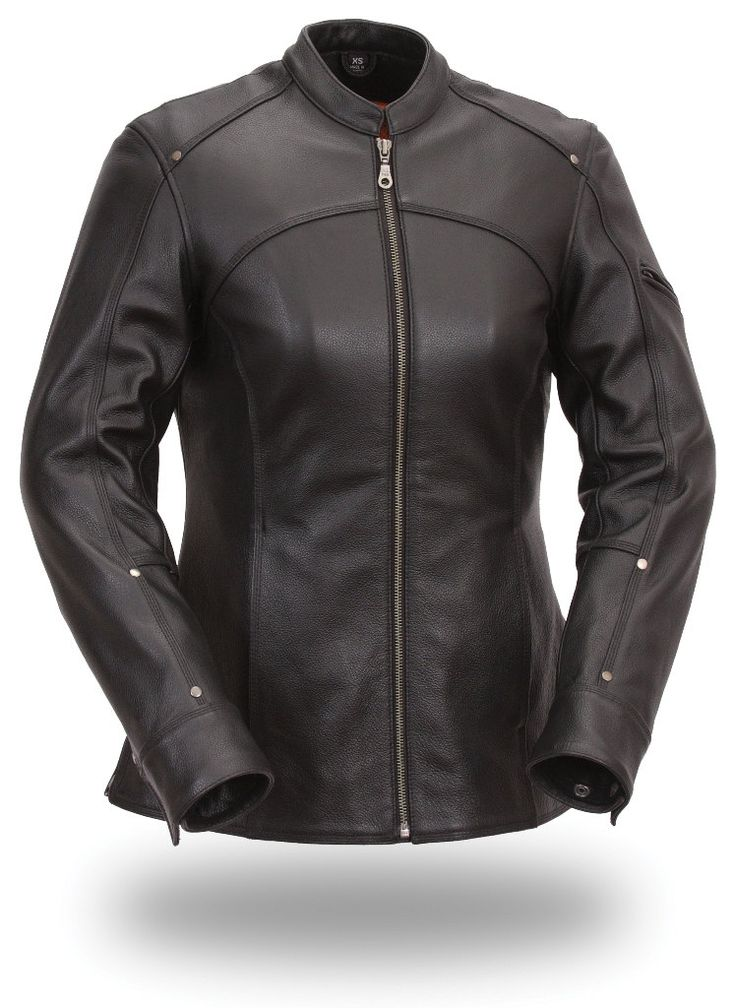 173 Ladies Scooter Style Jacket by AntelopeCreekLeather on Etsy