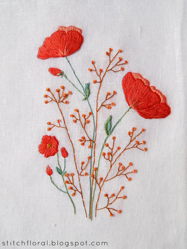 25 Best Ideas About Flower Embroidery On Pinterest