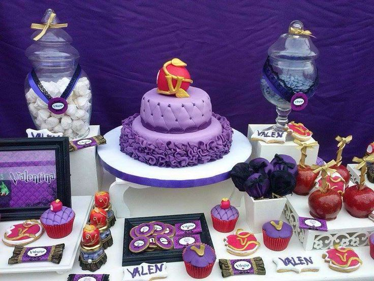 Purple Descendants birthday party! See more party planning ideas at CatchMyParty.com!