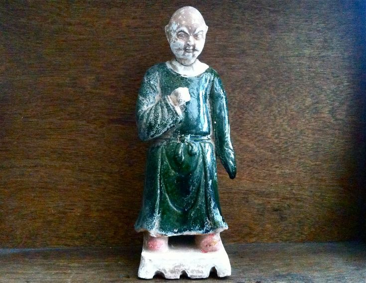 Antique Chinese Man Figurine Statue circa 1800's Purchase in store here http://www.europeanvintageemporium.com/product/antique-chinese-man-figurine-statue-circa-1800s/