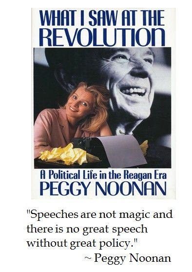 Peggy Noonan on Speeches