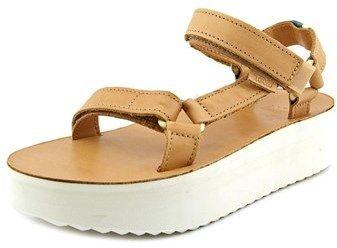 Teva Flatform Universal Women W Open-toe Leather Tan Sport Sandal.