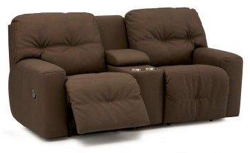 Palliser Mystique Loveseat Recliner Console with Cupholders