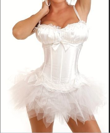 Burlesque / Moulin Rouge Corset with straps & tutu skirt Fancy dress outfit | eBay