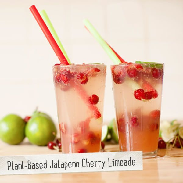 Plant-Based Jalapeno Cherry Limeade  vegan, plantbased, earth balance, made just right