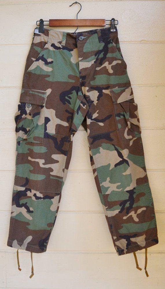 ALL CAMO Pants $27.95 ON SALE Vintage Military Camo Pants Men's Army Camo by founditinatlanta