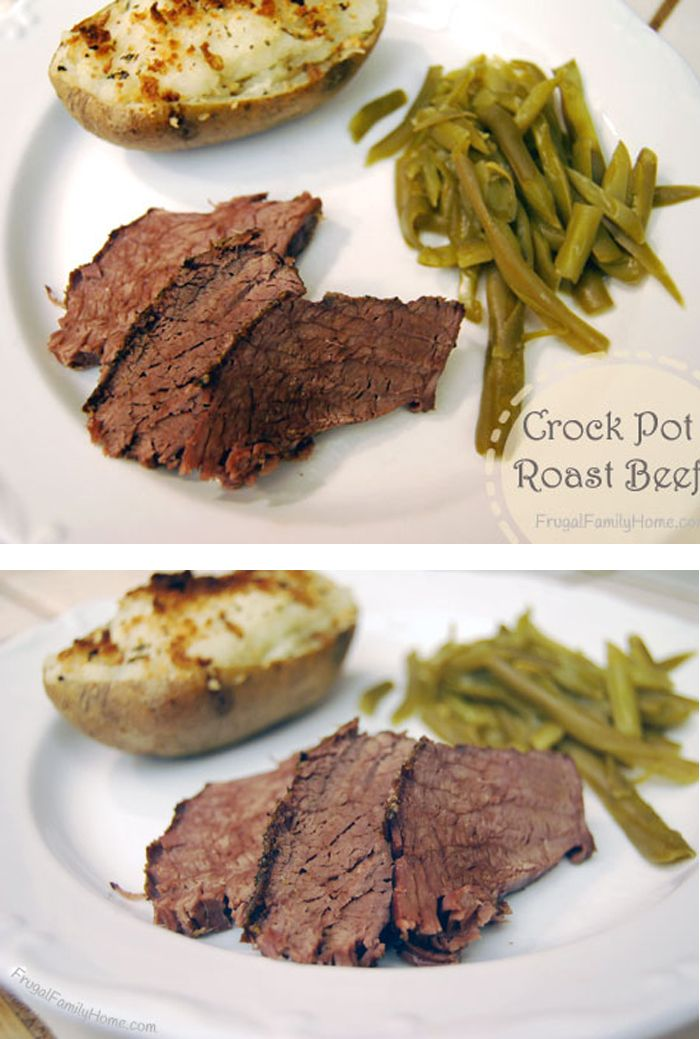 Easy Crock Pot Beef Roast | Recipe | Roast beef, Recipes ...