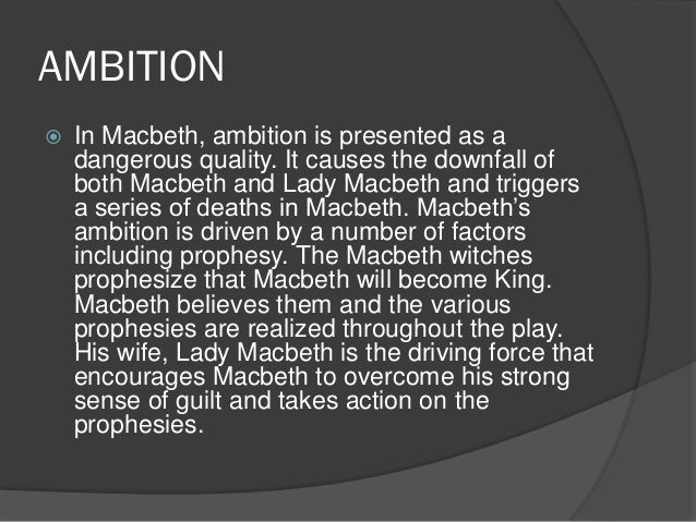lady macbeth ambition essay Macbeth essay by emurider14, high school, 11th grade, a+, september 2003   lady macbeth describes her plan to kill the king to macbeth immediately.