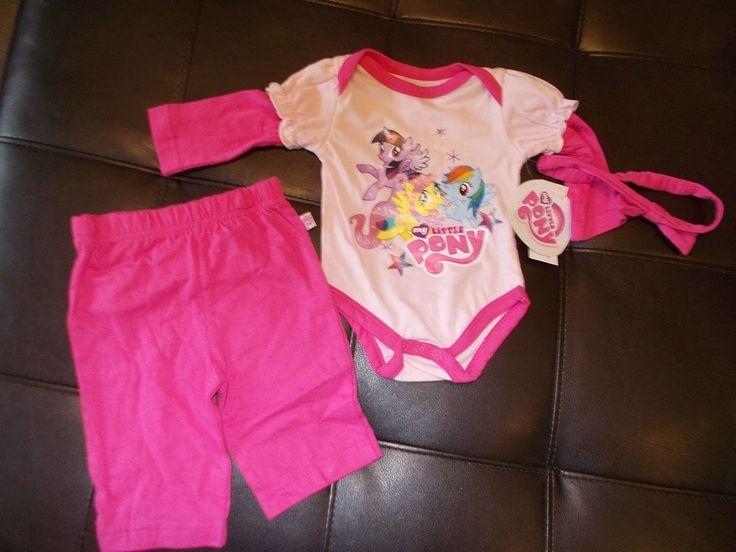 My Little Pony Outfit for Baby Girl Pink Shirt Pants Headband NWT 0-3 months  #MyLittlePony #SleepPlayMommysSillyMonkeyEveryday