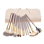 12PCS Coffee Handle Cosmetic Brush Set With O... – USD $ 13.59