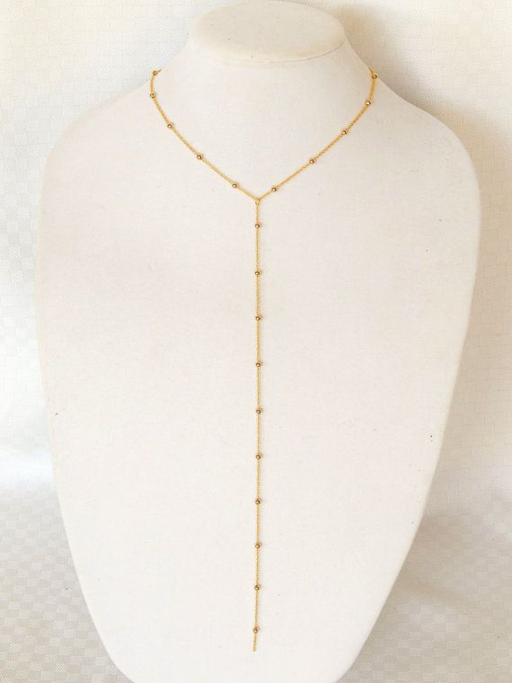 Kylie Jenner Lariat Necklace Gold Lariat by SimpleAndLayered