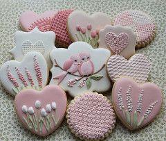 Pink floral cookie set by Miss Biscuit | Miss Biscuit | Flickr