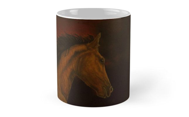 Coffee Mug,  home,kitchen,accessories,cool,beautiful,fancy,unique,trendy,artistic,awesome,unusual,gifts,presents,for sale,design,ideas ,brown,horse,animal,redbubble