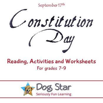 Constitution Day  - Commemorate the United States Constitution on September 17th with this collection of activities that will deepen your students understanding of the supreme law of the land.This .pdf includes: A reading about the formation of the Constitution Worksheet questions on the reading that address Depth of Knowledge levels 1-3 Constitution crossword puzzle linked to the reading Articles of Confederation vs.