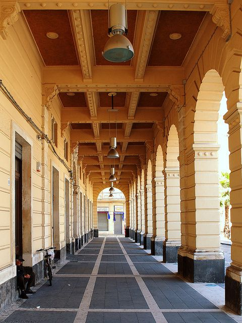 The Arcades of the City Hall - Riposto, Sicily, Italy