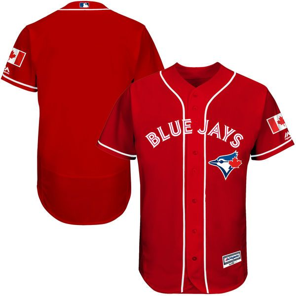 Toronto Blue Jays Majestic Fashion Canada Day Flex Base Authentic Team Jersey - Scarlet - $286.99