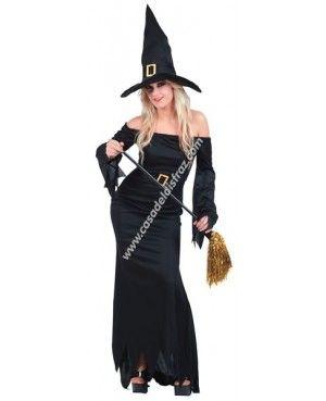 Disfraz Negro de Bruja para Halloween #DisfracesHalloween #Disfraces http://casadeldisfraz.com/