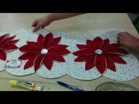 DIY Camino de mesa Navideño  - Omaira TV - YouTube