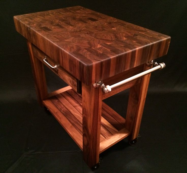 Beautiful Black Walnut End Grain Butcher Block Kitchen Cart by MagnoliaWoodWorks on Etsy https://www.etsy.com/listing/184354802/beautiful-black-walnut-end-grain-butcher