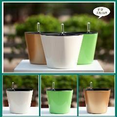 [ $22 OFF ] Flower Pots Planters, Bonsai,greensun Intelligent Automatic Irrigation System Mini Pots 18*17 Cm 0.5Kg 2/bag