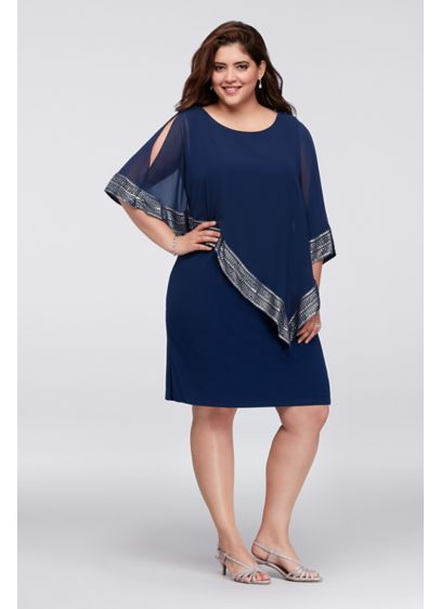 c7aa8d72ec3b0 Short Sheath 3 4 Sleeves Cocktail and Party Dress - SL Fashions ...