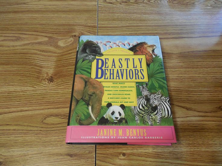 Beastly Behaviors Janine Benyus A Zoo Lover's Companion 1992 Hardcover w/jacket