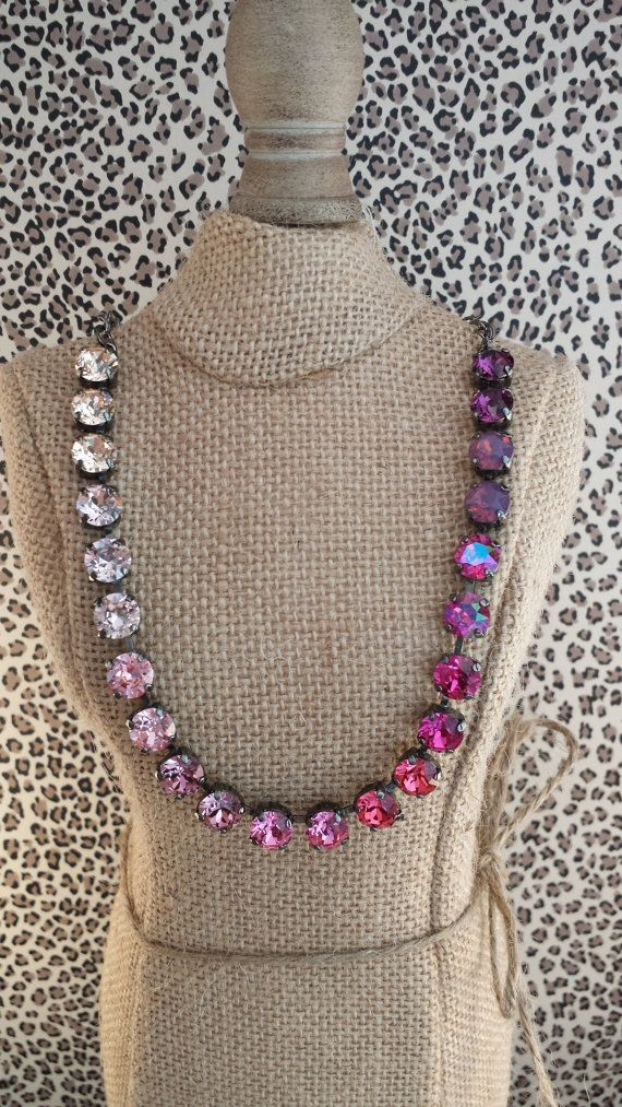 NEW 8mm Ombre Pink and purple necklace Sabika by KissMySassJewelry, $65.00