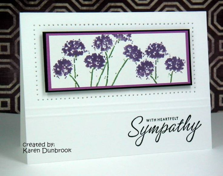CAS37: With Sympathy by k dunbrook - Cards and Paper Crafts at Splitcoaststampers