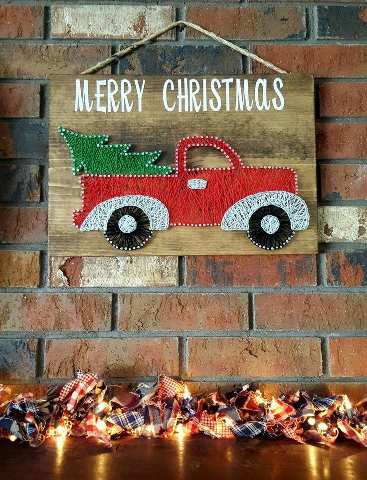 String Art/christmas/fall/decorations/vintage trucks