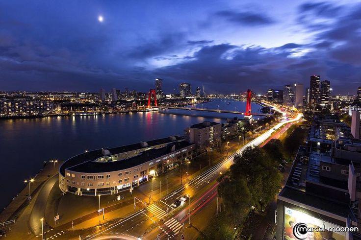 Rotterdam - Maasboulevard, Oosterkade, Boompjes en omgeving...