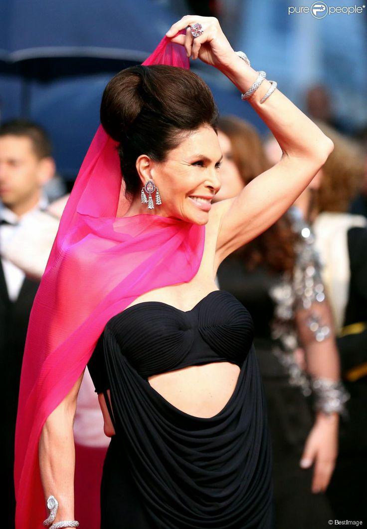 Mouna Ayoub au Festival de Cannes, le 15 mai 2013.
