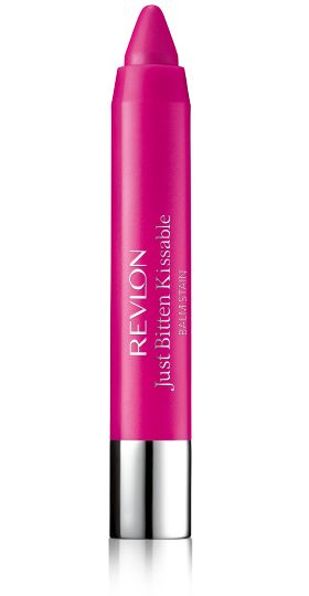 I have gotten asked quite a bit what I use to get my bright pink lips...here it is in 025 sweetheart valentine. Revlon Just Bitten Kissable™ Balm Stain.