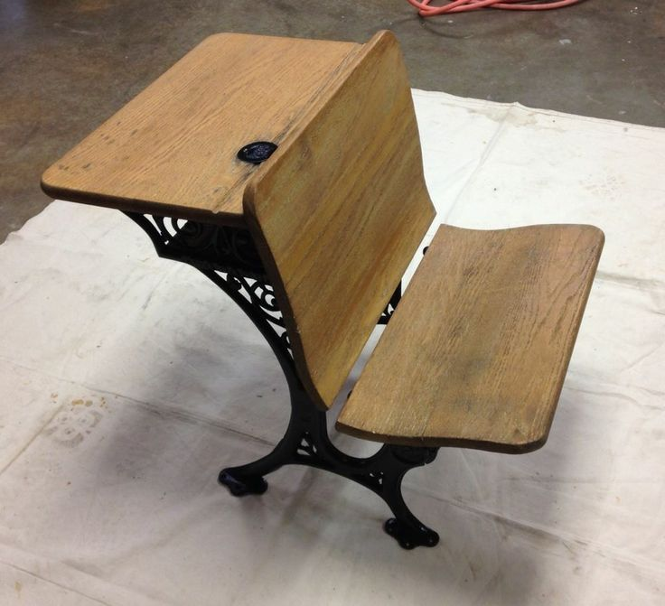 antique wabash school desk with original inkwell and 87974