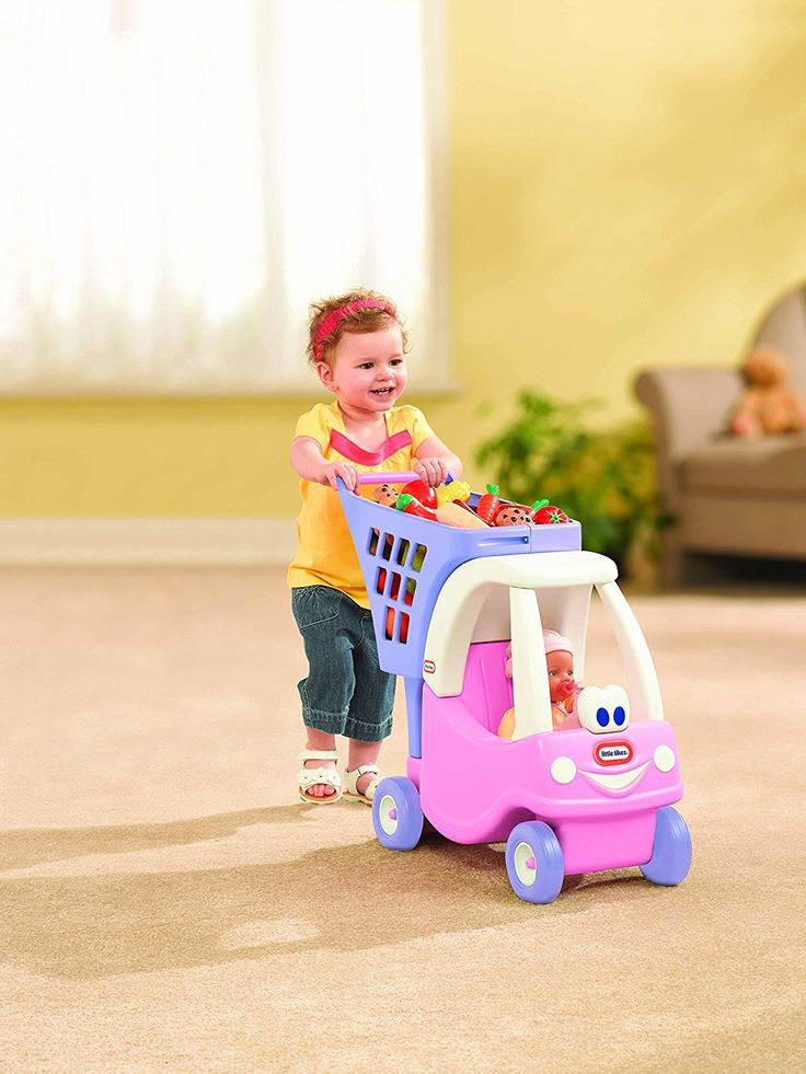 Little Tikes Pink Girls Shopping Cart for Young Children on the Move