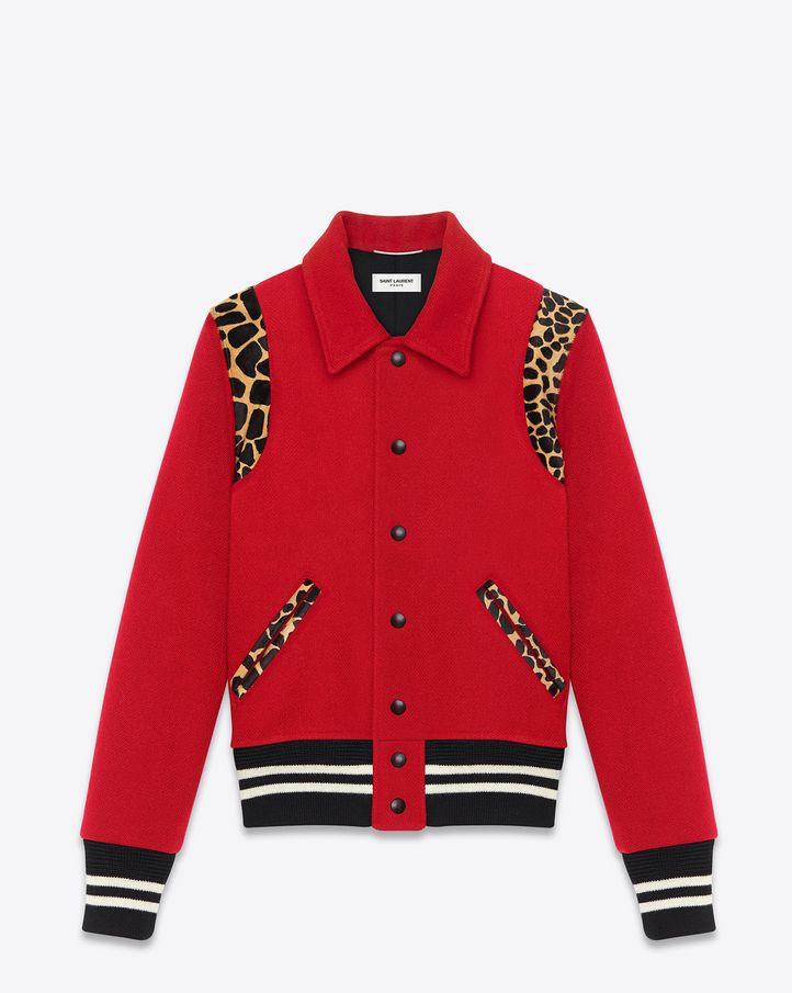 Chaqueta beigeOuterwearman y lana de vaca en de virgen estampado Menswear peluche roja guepardo beige Laurent Chaquetas Saint Pinterest 2019 de piel en con Cómo rWcUvPr