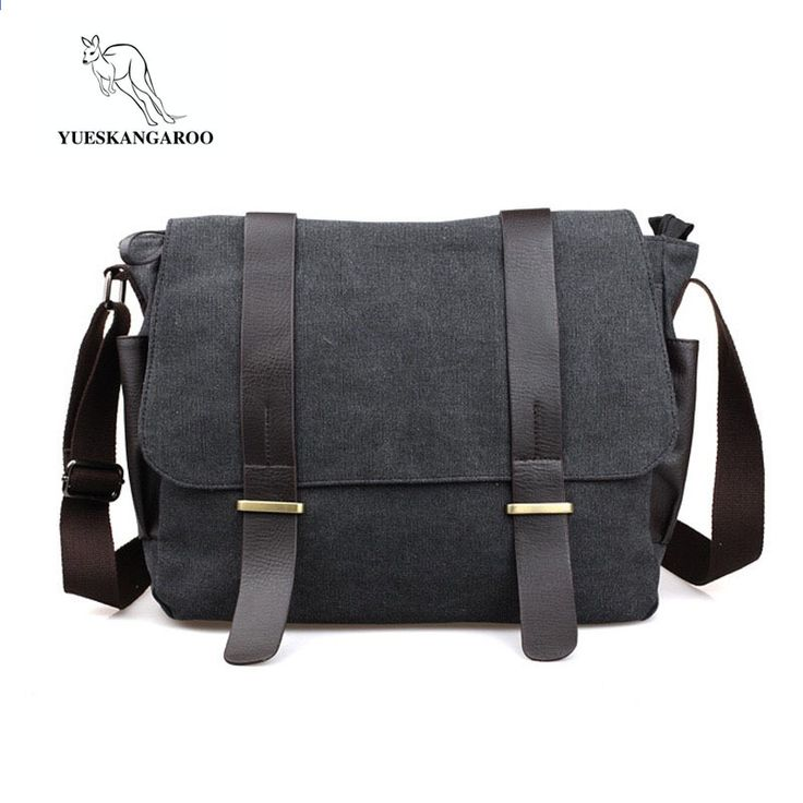 daf6c2eaecd7 YUESKANGAROO Men Canvas Casual Briefcase Business Shoulder Bag Messenger  Bags Computer Laptop Handbag Bag Men s Travel