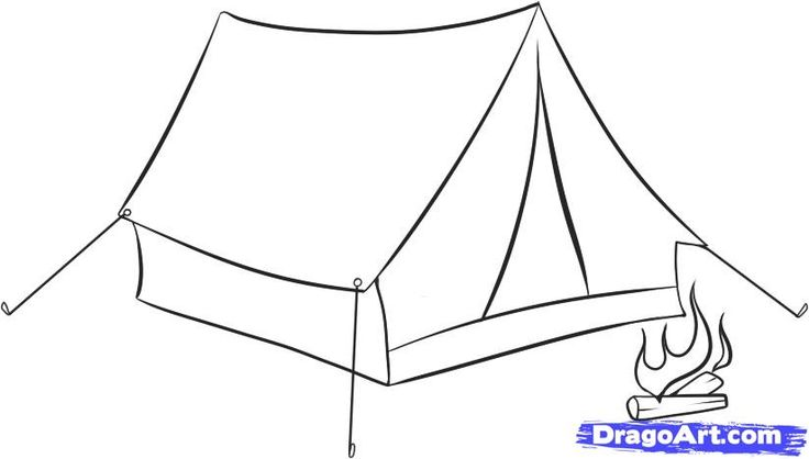 How to Draw a Tent, Step by Step, Stuff, Pop Culture, FREE Online ...