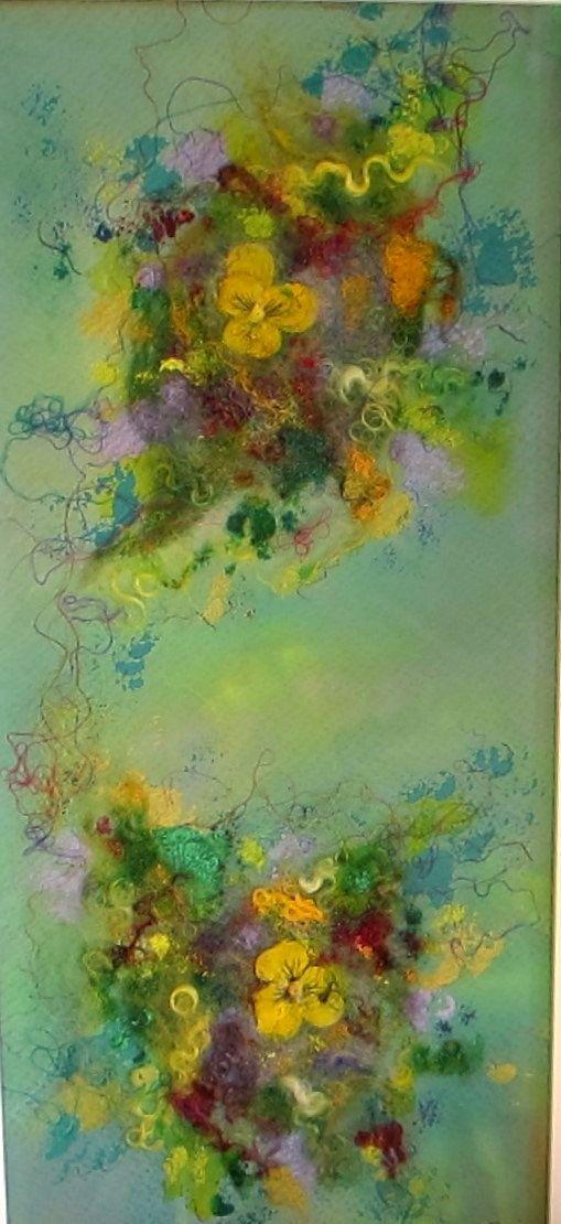 Art abstrait art abstrait floral  Mes pensées par ChezPasserose