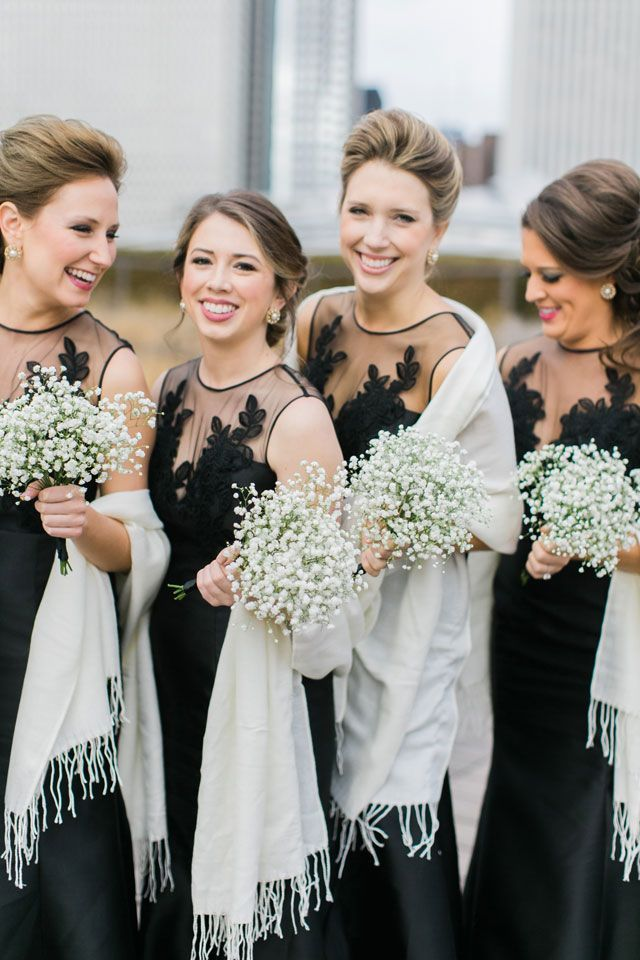 A stunning ivory, black and gold winter wedding | Artistrie Co.: http://www.artistrieco.com #WinterWeddings