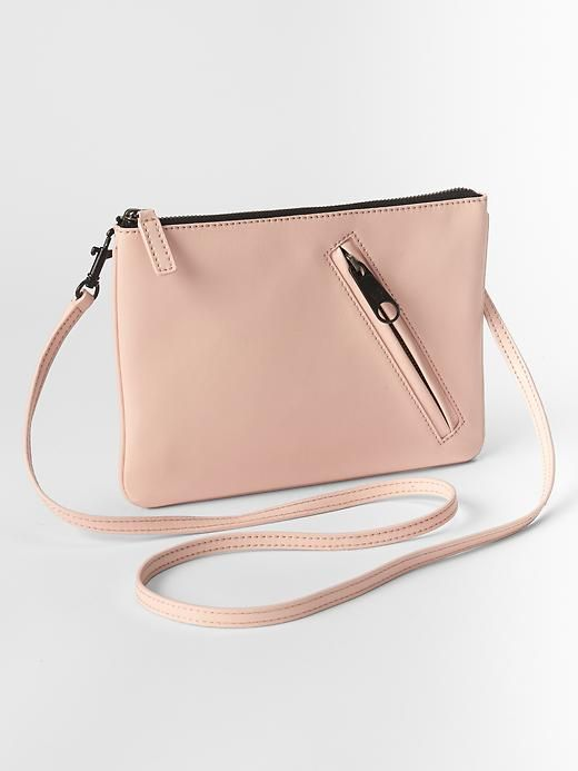 Zip leather crossbody