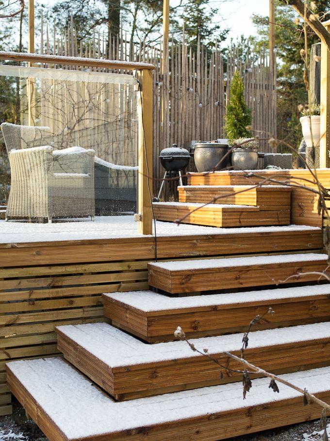 Ensilumi terassilla, #terrace #terassi #winter