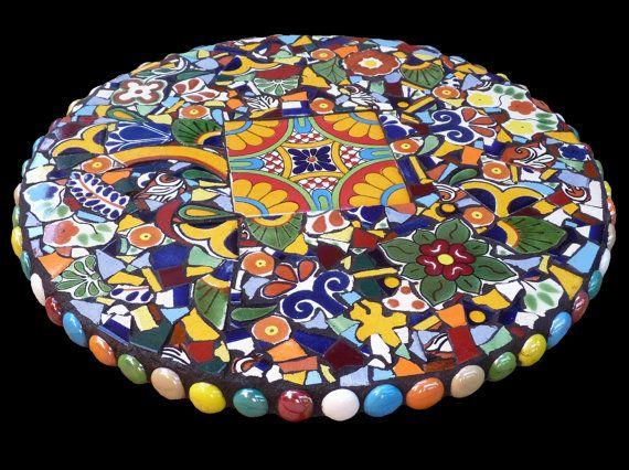 15 Inch Southwestern Mosaic Lazy Susan by KateSutcliffeMosaics