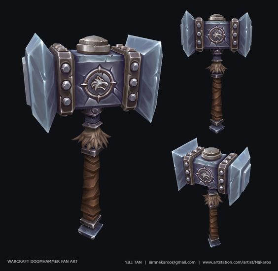 Warcraft Doomhammer Fan Art, Yili Tan on ArtStation at https://www.artstation.com/artwork/warcraft-doomhammer-fan-art: