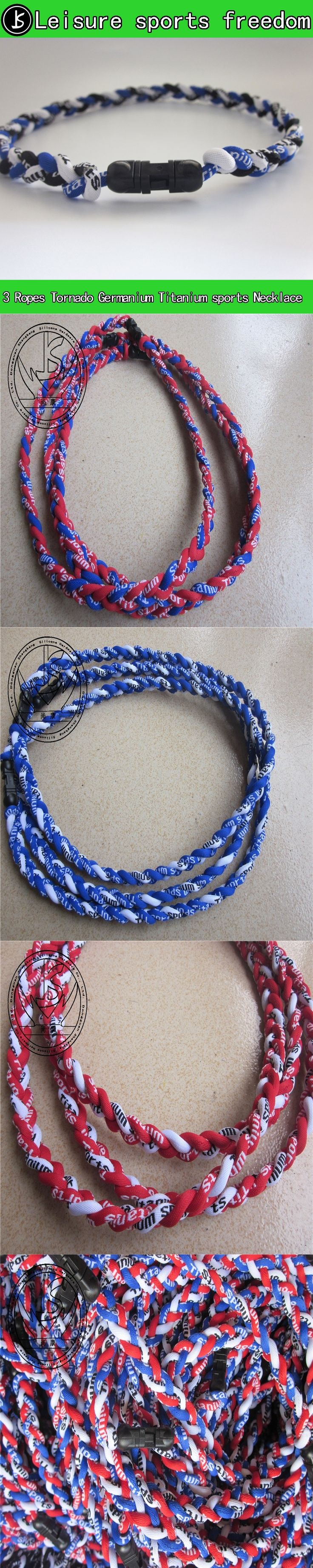 Germanium and titanium braided tornado necklace necklace,MagnetsTitanium Tornado Necklace,3 ropes braided necklace