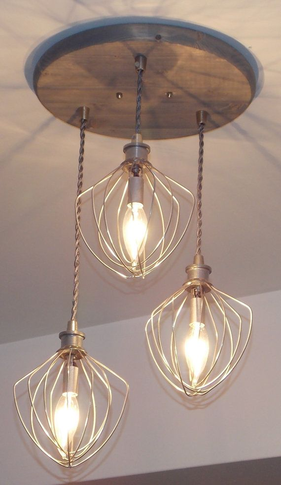 Let this unique light fixture bring a modern , industrial style to your home! It will look great in your kitchen , breakfast area, or even in your