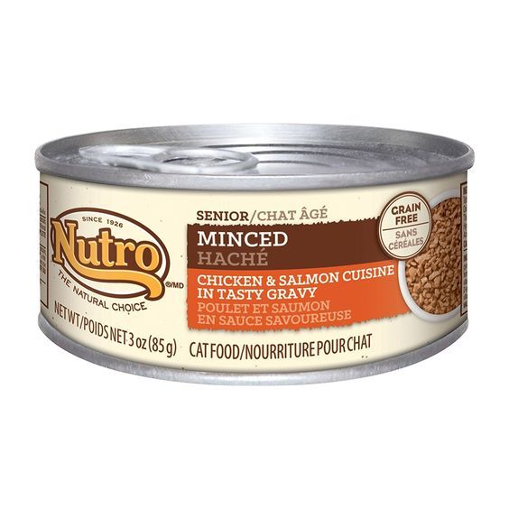 Nutro Natural Choice Minced Chicken Salmon Senior Cat (24x3oz) *** For more information, visit now : Cat food