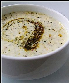 Yayla Corbasi (Yoghurt Soup) Recipe http://www.yemek-tarifi.info/english/recipe.php?recipeid=405 - Turkey